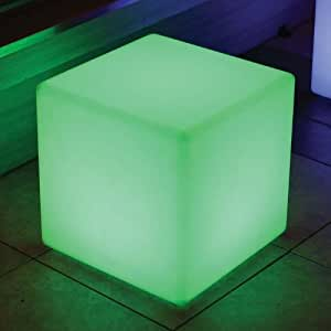 """Color Changing Waterproof LED Light - Cube (8"""" X 8"""")"""