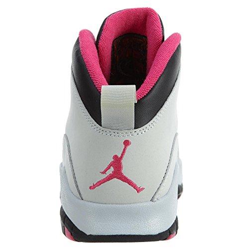 Ragazze Air Jordan 10 Retro (gs) Vivid Rosa - 487211-008 - Dimensione Us
