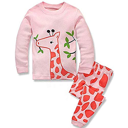2 Funny Womens Tracksuit - Kids Outfits Set MITIY Fall Winter Cotton Long Sleeve Cats Print Tracksuit +Pants Toddler 2Y-6Y (Pink 2, 4T)