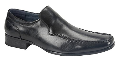 Loafers Earl Fram Pu Rute Skinn Foret Svart 21 Menns 5XAY8