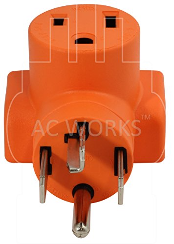 AC WORKS [WD1430650] 30Amp 4-Prong 14-30P Dryer Plug to 6-50R 50Amp 250V Welder adapter by AC WORKS (Image #3)