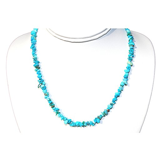 Turquoise Nugget Set - Charged Arizona Turquoise Necklace 18