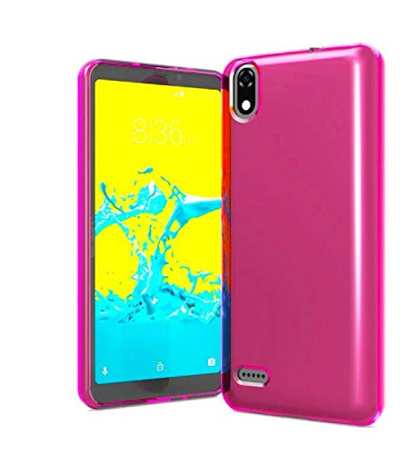 Tempered Glass + TPU Flexible Skin Protective Case Phone Cover for ZTE Blade T2 Lite Z559DL + Gift Stand (Pink) from PT