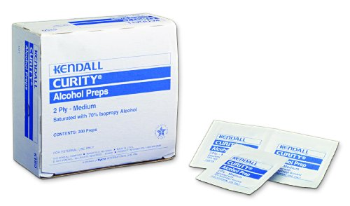 Kendall 5750 Curity Lightweight Alcohol Prep, Sterile, 2 Ply, Medium (20 Boxes of 200)