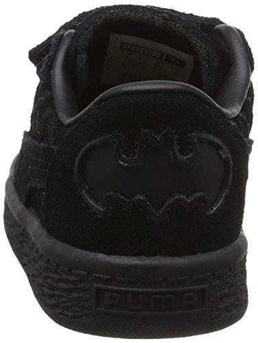 Puma Unisex-Kinder Batman Suede FM V Inf Low-Top Schwarz (black-black-puma team gold 01)