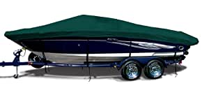 Forest Green Exact Fit Boat Cover Fitting 2006-2009 Four Winns Horizon 210 W/top Laid Down On Small Struts I/O Models, 9.25 oz. Sunbrella Acrylic