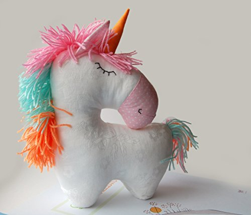 Stuffed unicorn toy Horse Stuffed Animal rainbow party white