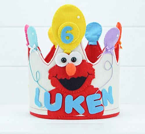 Corona Cumpleaños Elmo: Amazon.es: Handmade
