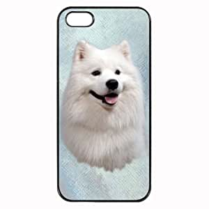 Custom Samoyed Dog Hard Case Clip on Back Cover for i-Phone 5 & 5S