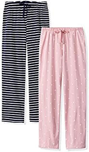 Femofit Pajama Pants for Women Lounge Pant Cotton Pajama Pant Pajama Bottoms Sleepwear Pack of 2 S~XL