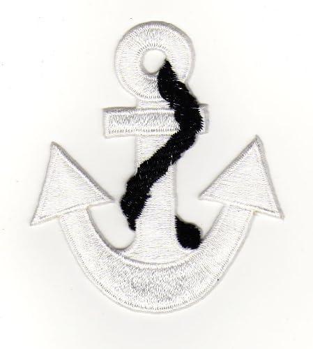 Parche para coser o para planchar, parches para planchar, aplicación, ancla, rockabilly, crucero, ancla de barco ...
