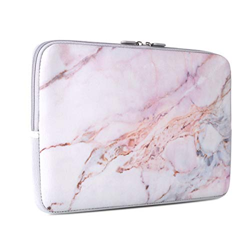 (Laptop Sleeve, iCasso 15-Inch Stylish Soft Neoprene Sleeve Case Cover Bag Compatible 15-15.6 Inch MacBook Pro, Notebook Computer, Colorful Marble)