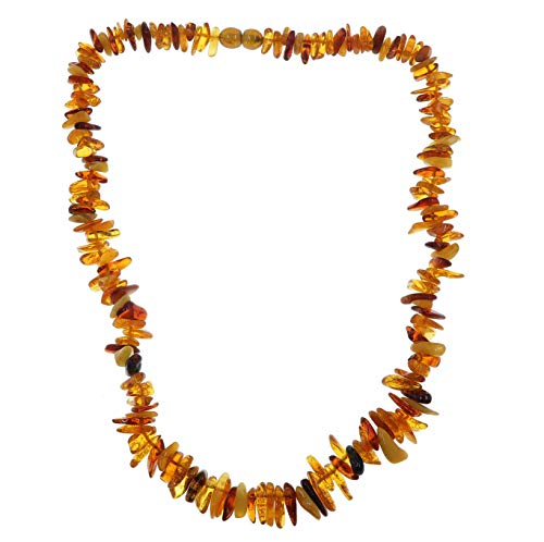 Amber Necklace Boutique Yellow Orange Authentic Baltic Gemstone Energy Healing Knotted B11 ()