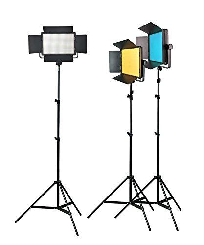 Godox LED500KIT (Led500Y+Led500C+Led500W) Light Panel Photo Film Video Photography Continuous Lighting Kit for Photography Photo Studio by Godox