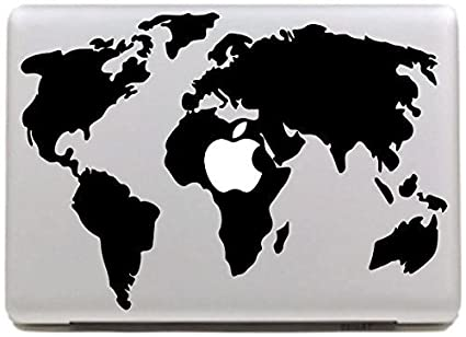 Amazon vati leaves removable world map cool design best vinyl vati leaves removable world map cool design best vinyl decal sticker skin art black perfect for gumiabroncs Images