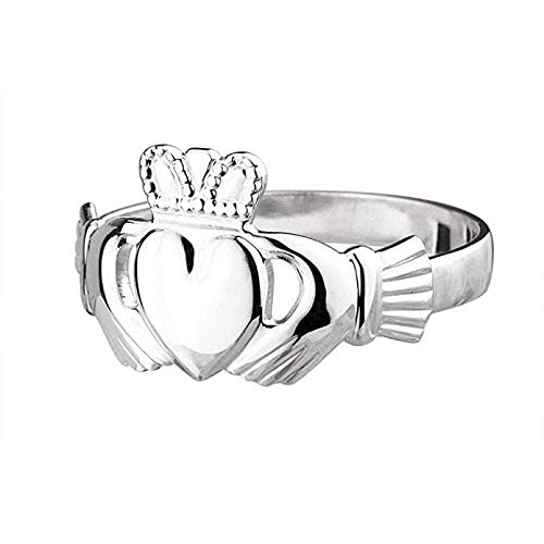 - Biddy Murphy Womens Claddagh Ring Standard Sterling Silver Made in Ireland Size 7