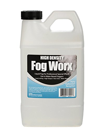 - FogWorx Extreme High Density Fog Juice - Long Lasting, High Output, Water Based Fog Machine Fluid - Half Gallon, 64oz