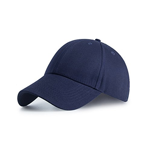Paangkei 100% Cotton Hat Men Women Adjustable Pigment Dyed Low Profile Six Panel Baseball Cap Hat (M, Dark Blue)