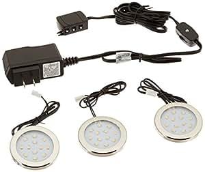 westek led surface mount accent lighting kit 3 pack 12v. Black Bedroom Furniture Sets. Home Design Ideas