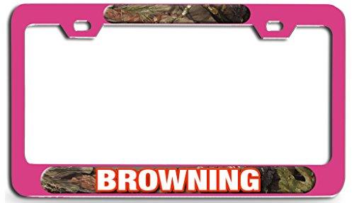 - Makoroni - BROWNING Hunting Pn Steel License Plate Frame - License Tag Holder 3D Design