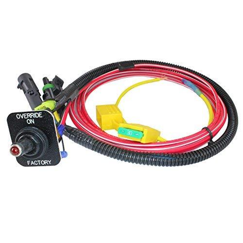 MCSADVENTURES ATV UTV Fan Override Switch Kit For Polaris Ranger RZR 800 900s XP 1000 (Toggle Switch)