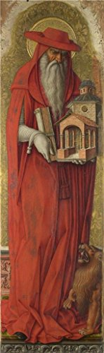 Oil Painting 'Carlo Crivelli - Saint Jerome,about 1476' Printing On High Quality Polyster Canvas , 24x81 Inch / 61x205 Cm ,the Best Gym Decoration And Home Artwork And Gifts Is This High Definition Art Decorative Prints On Canvas (Renaissance Two Mirror Light)