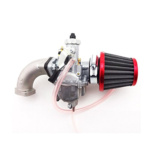 TC-Motor 26mm Mikuni VM22 Carburetor Carb + 38mm Air Filter Cleaner + Manifold Intake Pipe + Gasket For 110cc 125cc 140cc Engine Pit Dirt Motor Bike