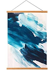 Teak Wood Magnetic Poster Frame Hanger, Magnet Poster Frame for Posters, Prints, Photos, Pictures, Maps, Scrolls, and Canvas Artwork