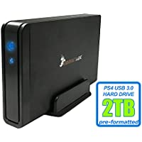HornetTek Viper 2TB (2000GB) 7200RPM 64MB Cache USB 3.0 External PS4 Hard Drive (PS4 Pre-Formatted) - PS4, PS4 Slim & PS4 Pro