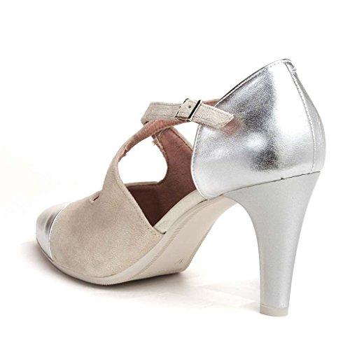 Zapato vestir Pitillos 1103 Plata - Hielo