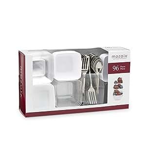 Mozaik Premium Plastic Mini Appetizer & Dessert Tasting Set, 96 pieces