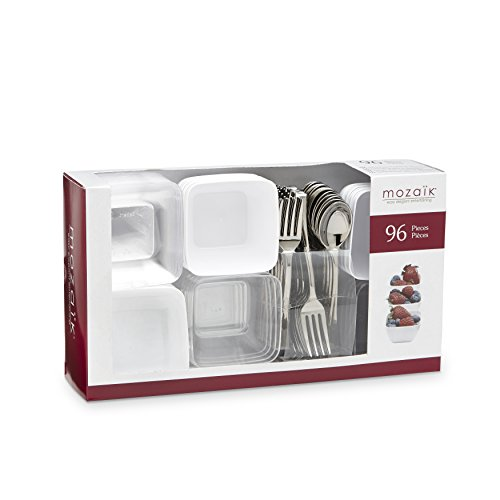 Meal Set Mini (Mozaik Premium Plastic Mini Appetizer & Dessert Tasting Set, 96 pieces)
