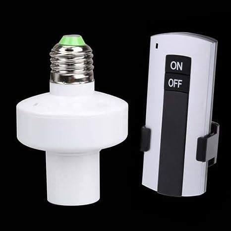 E27 Bulb Holder Wireless Remote Control Light Socket Switch