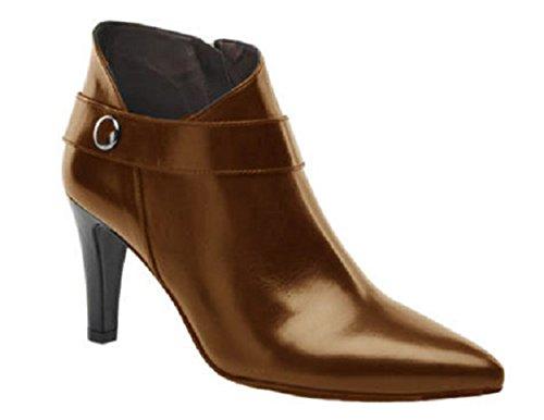 Elegant Leather Boots Ashley by HGilliane Design EU 33 to 44 Customized only Marron Choco kEyi09f