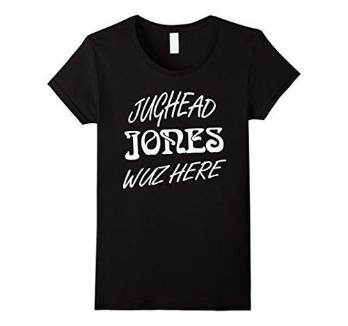 Womens Funny t shirt Jughead Jones Wuz Here Small (Here Funny T-shirt)
