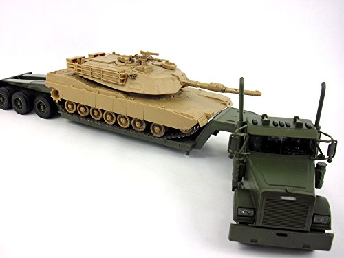 Freightliner Lowboy W/ M1A1 Abrams Tank 1/32 Scale Diecast and Plastic Model