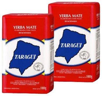 Taragui Yerba Mate Con Palo 2.2lbs 2pack (Argentina Tea)