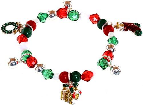 Kids Charm Boy Diamond - Ace of Diamonds KIDS Christmas Charm Stretch Bracelet (Stocking)
