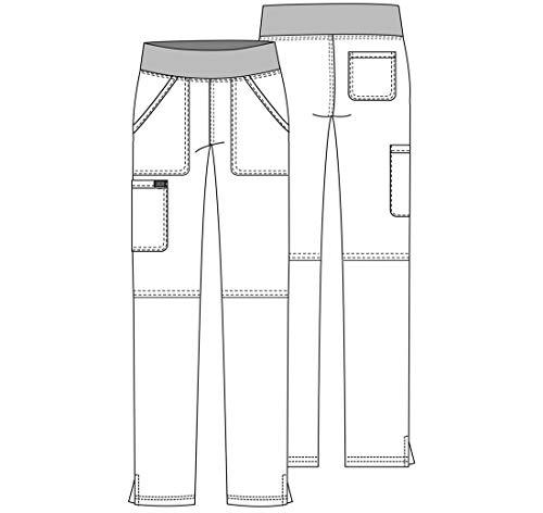 CHEROKEE Women's Mid Rise Straight Leg Pull-on Pant Petite