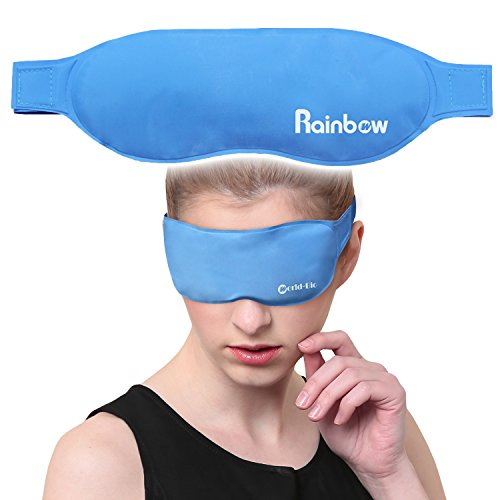 Cooling Gel Eye Mask Cold Pads for Puffy Eyes, Hot & Cold Therapy for Migraine Headache Relief, Reduces Dark Circles and Dry Eye, Treats Allergies, - And Mask Ice Fire