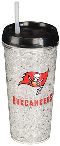 Buccaneers Freezer - NFL Tampa Bay Buccaneers 16oz Crystal Freezer Tumbler with Lid and Straw