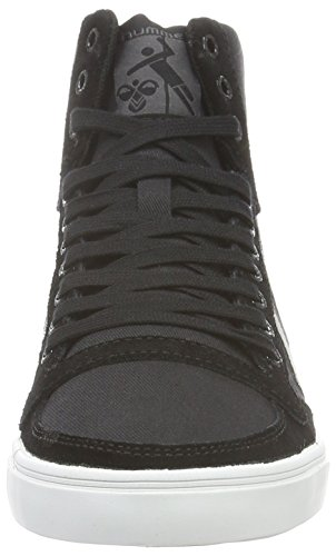 Hummel Slimmer Stadil Duo Canvas High, Zapatillas Altas Unisex Adulto Negro (Black)