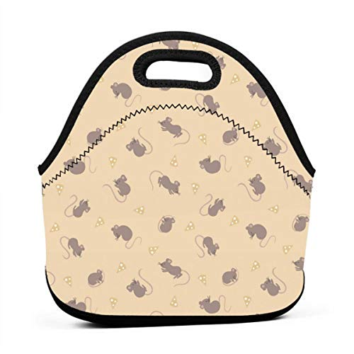- Lewis and Irene Small Things Country Creatures Mice Hay Lunch Bag, Thick Insulated Lunchbox Bags,Tote Box with Zipper Closure for Kid Travel Picnic Office