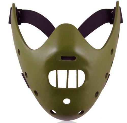 Gmasking Resin Hannibal Lecter Mask Replica(green)+Gmask Helmet -