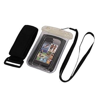 eDealMax Caso impermeable seco Bolsa Bolsa de la cubierta Clear + brazal Para el teléfono celular