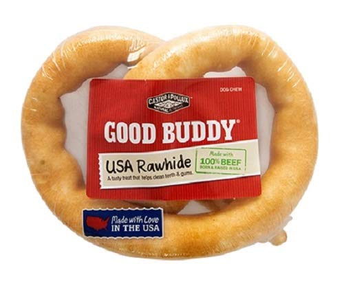 Good Buddy 1 Count Usa Rawhide Pretzel Treat For Pets, 6-Inch ()
