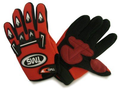 TMS Youth Kid Motocross Dirt Bike ATV Off-Road Gloves Red Red Dirt Bike