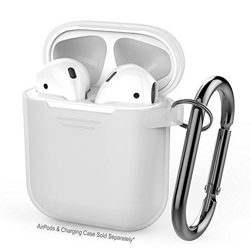 AhaStyle Premium Silicone Case Full Protective Cover Skin Compatible with Apple AirPods - Clear
