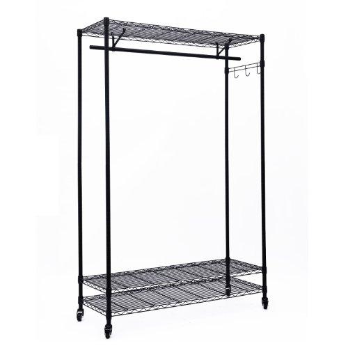 UPC 700729269497, HomCom 3 Tier Rolling Storage Closet Shelf Organizer