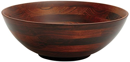 (Lipper International 274 Cherry Finished Footed Serving Bowl for Fruits or Salads, Large, 13.75